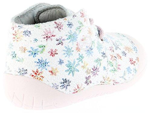 Richter Kinder Minis weiß Velourdruck Mädchen-Schuhe 0621-142-0400 panna Richie Weiß