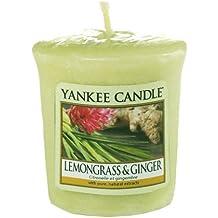 Yankee Candle 1507707E - 49 g La hierba de limón y jengibre Votiva, Cera, Color Verde, 4.6x4.5x5 cm