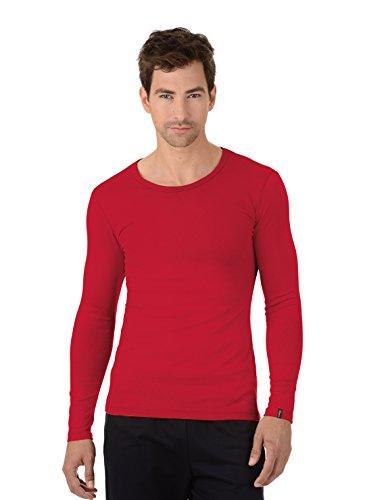 Trigema Herren Langarmshirt Langarm-Shirt Rot (kirsch 036)