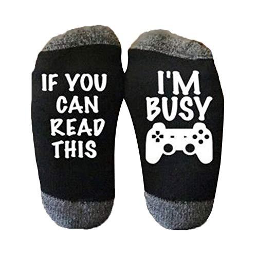 (Blue Vesse Unisex EisEyen Do Not Disturb I'm Gaming Herren Damen Stricken Funny Socks Baumwolle Dickes Strick Socken)