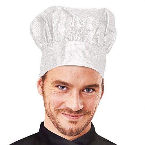 Kochmütze, Chefkochmütze, Papier-Kochmütze in weiß mit Schweißband, 29 cm Durchmesser für Gastronomie