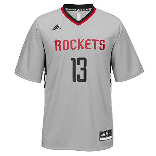 new product fd5b3 4cabd adidas NBA Men's Houston Rockets James Harden Replica Player Home Jersey,  2X-Large, Gray