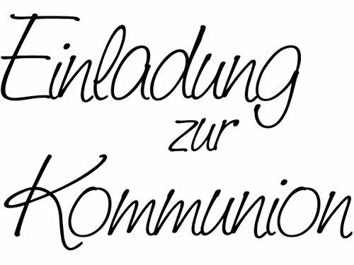 KnorrPrandell 1800100 - Stempel - Einladung zur Kommunion, 6.1 x 4.2 cm