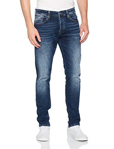 Mavi Herren YVES Slim Jeans, Blau (Mid Indigo Comfort 23742), W36/L34 -