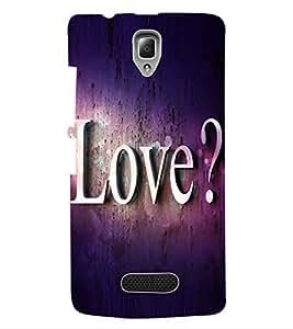 ColourCraft Love Back Case Cover for LENOVO A2010