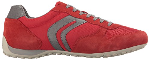 Geox Snake C, Baskets Basses Pour Homme (red / Greyc0025)