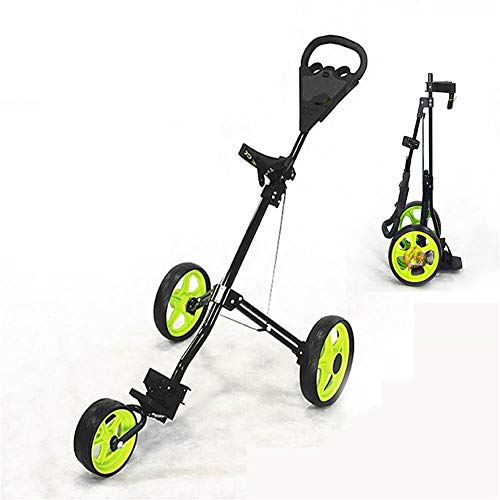 V.JUST 3 Wheel Golfwagen Golf Trolley Faltbare Design Al-Legierung Material Golf Bag Carrier
