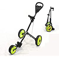 V.JUST 3 Wheel Golfwagen Golf Trolley Faltbare Design Al-Legierung Material Golf Bag Carrier