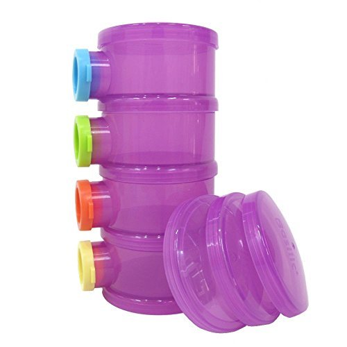 Basilic Baby Formula Dispenser / Milk Powder Container / Storage / Pot - 4 Compartment (purple)