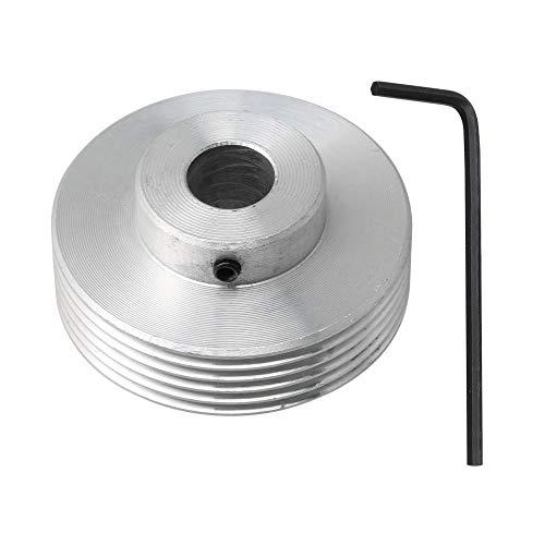 Yibuy Riemenscheibe, mit Keilriemenscheibe, Aluminium, 12 mm Bohrung, für industrielle Teile