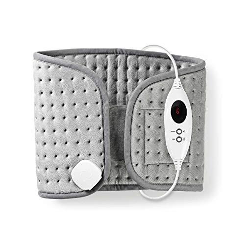 TronicXL Elektrische Wärmflasche Premium Gurt Heizkissen Rücken Kissen 6 Stufen Digital Steuerung Überhitzungsschutz Entspannung Rückenschmerzen Wärmedecke Wärmekissen Gürtel wärme -