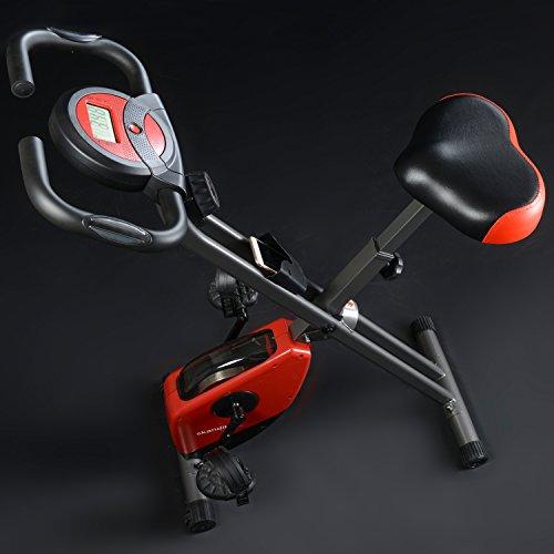skandika Foldaway X-1000 Fitnessbike Heimtrainer klappbar mit Handpuls-Sensoren, 8-stufiger Magnetwiderstand, LCD Display ohne Rückenlehne - 3