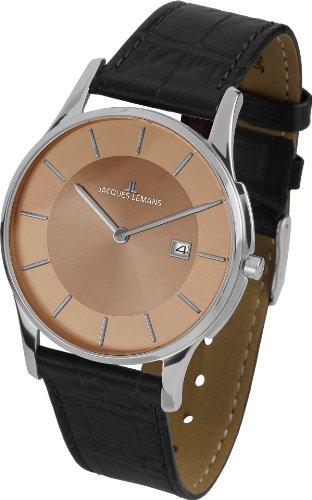 Jacques Lemans Unisex-Armbanduhr London Analog Quarz Leder 1-1777J