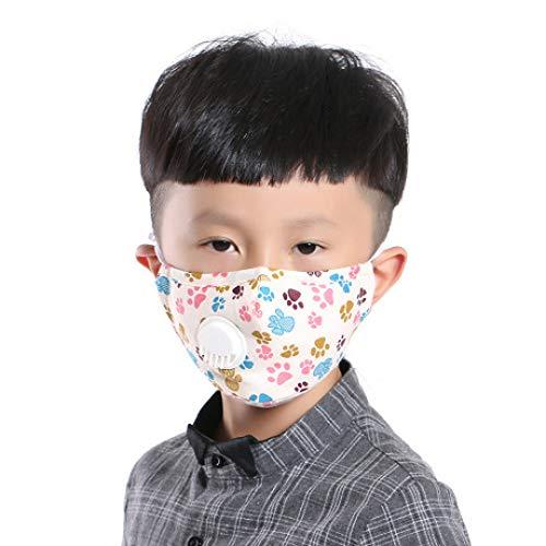 aske Kinder Atemventil Maske Baumwolle Atmungsaktiv Jungen und Mädchen Winter Baby Maske Cartoon staubdicht und beschlagfrei PM2.5 Maske ()