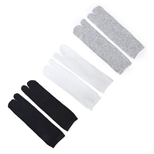 3 Paare Elastische 2 Zehen Socken Flip Flop Tabi Erhalten Socke Cosplay Socken