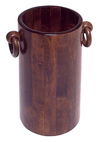 Relax e design portaombrelli cilindro in legno di faggio colore noce
