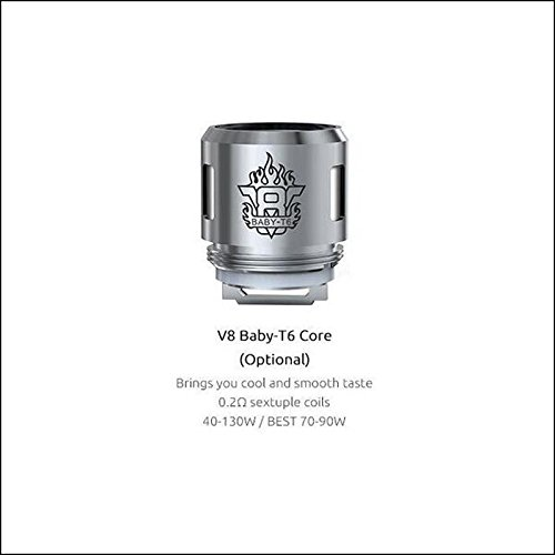 GENUINE SMOK MICRO TFV8 BABY TANK – THE BABY BEAST TURBO COILS 0.2 OHM 5 BEAST HEADS (V8 – T6 Coils)