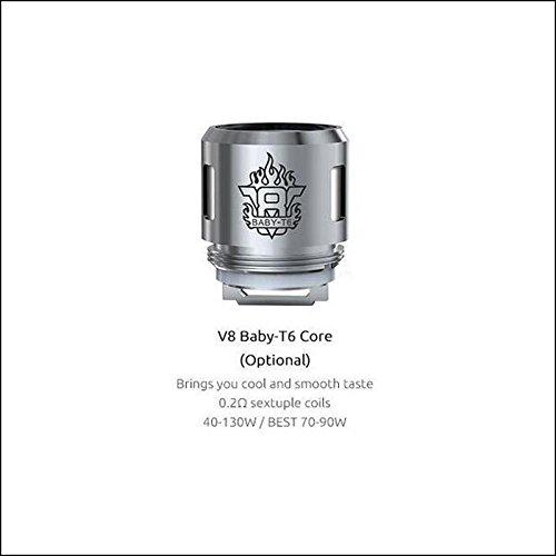 GENUINE SMOK MICRO TFV8 BABY TANK – THE BABY BEAST TURBO COILS 0.2 OHM 5 BEAST HEADS (V8 – T6 Coils)