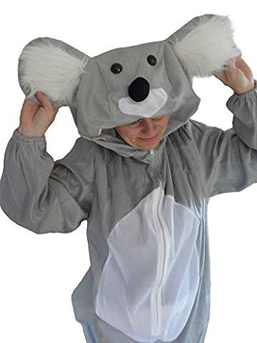 J42/00 Gr. M Koala Kostüm für Fasching und Karneval, Kostüme für Frauen Männer Erwachsene Paare, Faschingskostüm,