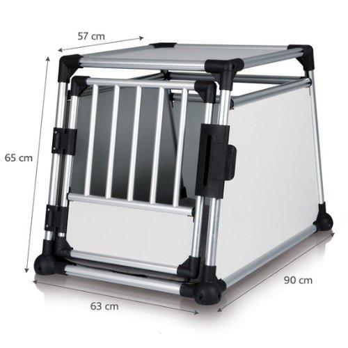hundeinfo24.de Alu-Hundetransportbox – Einzelbox Favorite – Größe 3