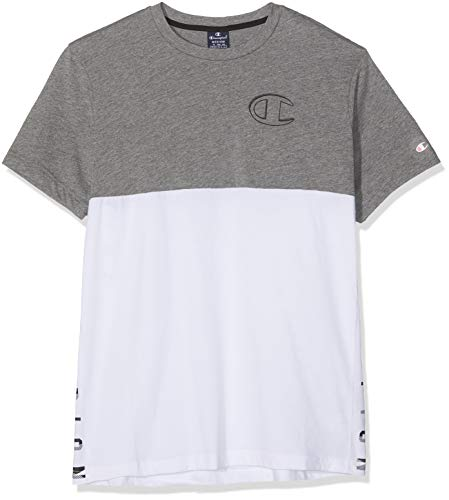 a6502018382b Champion Crewneck T-Shirt Camiseta, (Grmm/Wht Em504), XX-