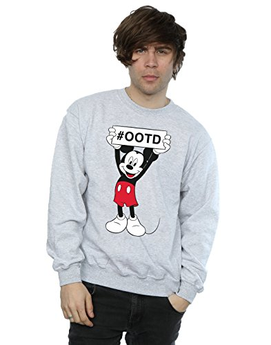 Disney Herren Mickey Mouse Outfit of the Day Sweatshirt Medium Sport Grey