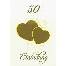 Suchergebnis Auf Amazon De Fur Einladungskarten Goldene Hochzeit