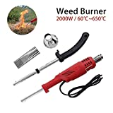 2000w Bruciatore Elettrico, Attrezzo da Giardino Erbaccia elettrica Killer Bruciatore Bacchetta per sarchiatura Termica per Giardino, Patio, Passo carraio