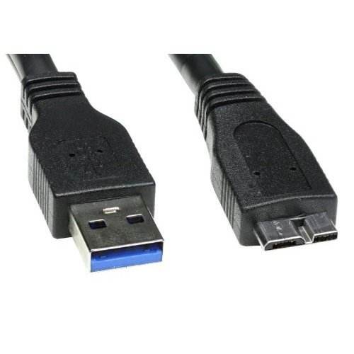 Image of Usb Lead For TOSHIBA STOR.E PLUS HDTP105EK3AA / Portable Hard Drive / 0.75cm long USB 3.0 Cable / for Data transfer