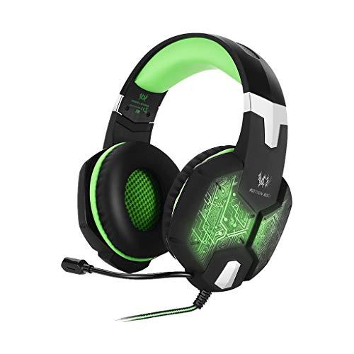Gaming-Kopfhörer Wired Shocking Bass mit Mikrofon-Headset(Grün)