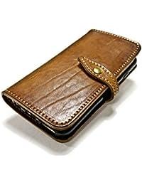 """Nicola Meyer – iPhone 6S e 6 4.7"""" custodia a libro in cuoio con 4 porta carte di credito e banconote colore 5303"""