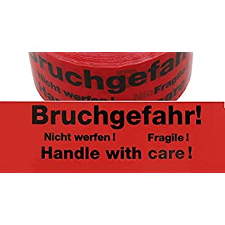 Package Tape Packaging Tape Warning Signal Adhesive Tape Tape Toys Bruchgefahr