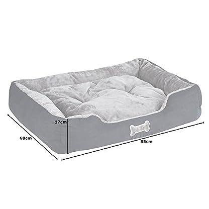 Me & My Black & Grey Large Super Soft Dog Bed 6