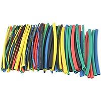 100pcs 5 Colores 100mm Tubo termocontraíble Bolsa de plástico Transparente Tubos retráctiles de cloruro de polivinilo