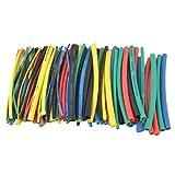 Kakiyi 100pcs 5 Colori 100 millimetri termorestringibile del Sacchetto del Tubo di plastica Trasparente cloruro di polivinile Shrinking Tubi