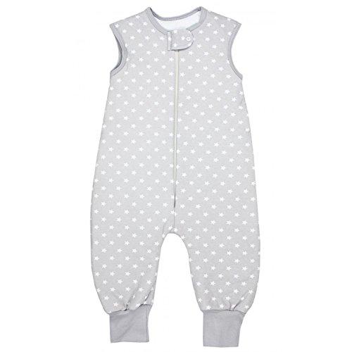 TupTam Baby Unisex Winter Schlafsack mit Beinen, Farbe: Sternchen Grau/Weiß, Größe: 80-86