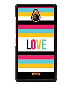 Nokia X2 Back Cover Vector Card Template With Color Stripes Design From FUSON