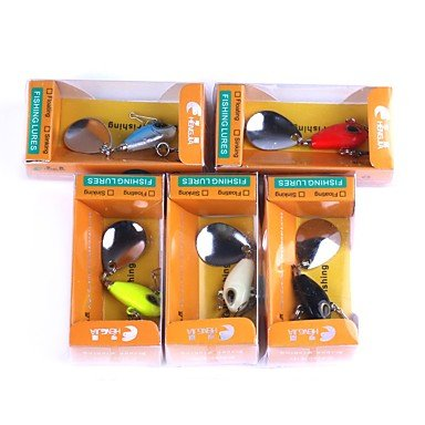 XHL Art 5 Pcs Metal Bait Hard Bait Plastic Metal Sea Fishing Trolling & Boat Fishing by XHL Art