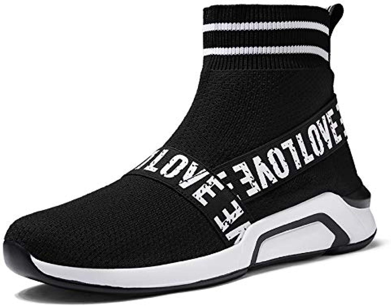 5210e91b6c50 Liuxc scarpe sportive sportive sportive Scarpe da Uomo Alte, Calze  Elastiche Alte per Aiutare Le