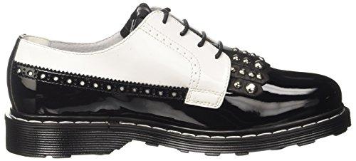 Cult Sabbath Low 1342, chaussures à lacets femme Multicolore (Black/White)