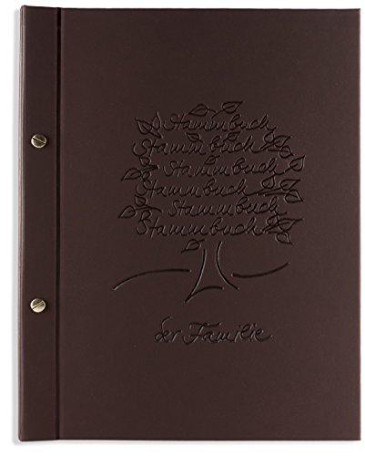 Preisvergleich Produktbild A4 Stammbuch der Familie -Aste-, Thermomaterial braun, Familienstammbuch, Stammbücher, Din A4