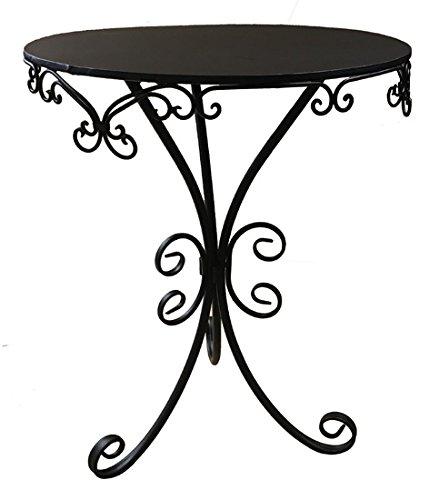 Nene-Home GUSTINA Tisch aus dunkelrostfarbenem Schmiedeeisen