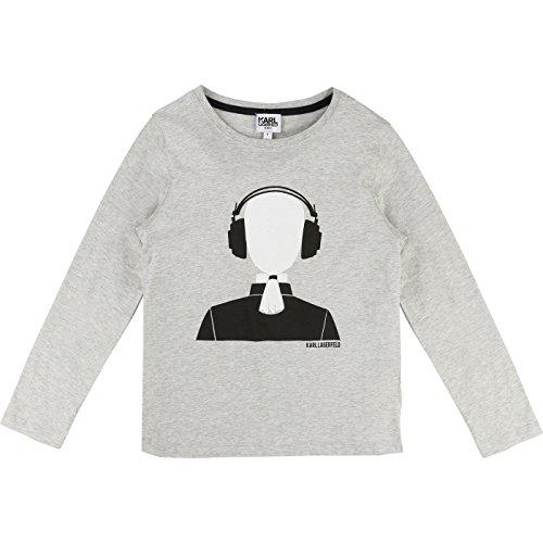 karl-lagerfeld-camiseta-de-manga-larga-para-nino-mezcla-de-grises-164-cm-172-cm