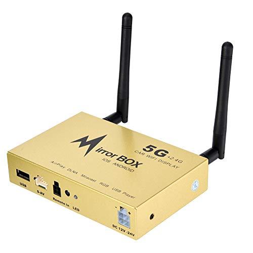 Auto WiFi Display Mirror Link Box,2,4G 5G Auto DLNA AirPlay HDMI Dongle Drahtlos High Definition Auto WiFi Display Converter Unterstützung Cinch Anschluss Digital Audio Video Ausgang Avi Mpg Converter