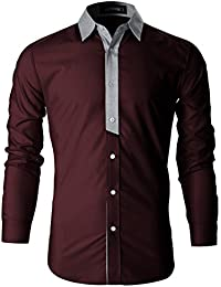 FLATSEVEN Chemise Slim Fit Casual Homme Chic