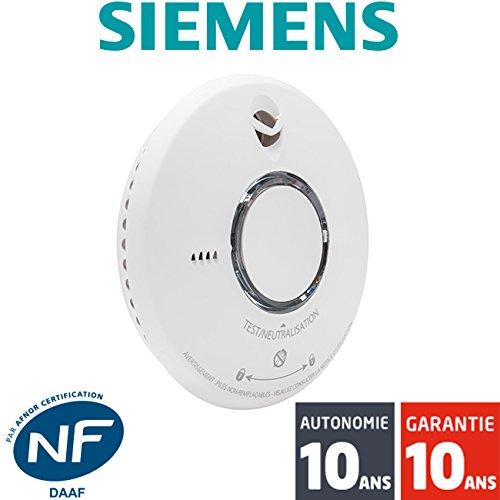Siemens - Détecteur de fumée NF Siemens Delta Reflex 5TC1292-2 Autonomie et Garantie 10 ans