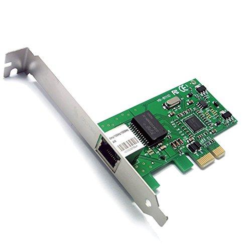Sienoc 10/100/1000Mbit Ethernet LAN Netzwerk Karte PCI-Express PCI-E RJ45 PCIe Gigabit Netzwerkkarte 10/100/1000 Mbit/s PCI Express LAN PCI-E - Oc Pci Express
