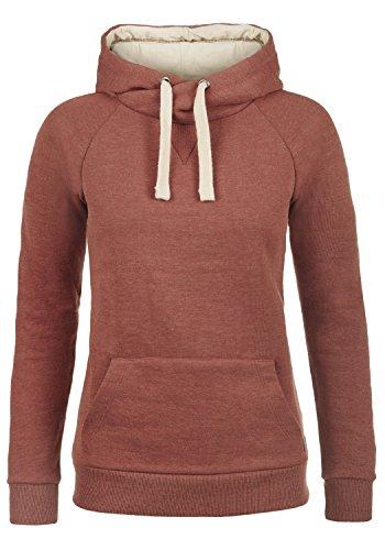 BlendShe Julia Damen Damen Hoodie Kapuzenpullover Pullover Mit Kapuze Und Cross-Over-Kragen, Größe:XS, Farbe:Henna (26013) -