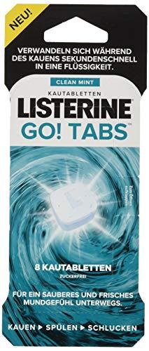 LISTERINE GO! Tabs Kautabletten (mit Clean Mint Geschmack für unterwegs) 48er Pack -