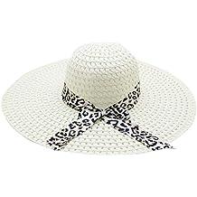 Darringls_gorras,Casquillo Casual de Panamá Hombres Sombrero para Deportes Sombrero de Sol de Borde Redondo